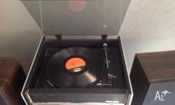 Awa sterio record player with inbuilt amplifier & am/fm