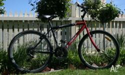 Hello, For sale Red and black Repco bike: 18 speed,