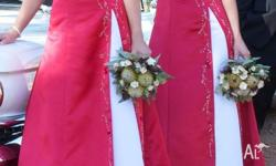 2 bridesmaid dresses /formal dress or Ball gowns. sizes