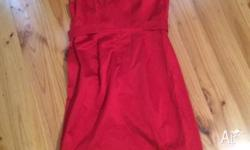 Absolutely gorgeous satin red dress. Size 12. Brand new