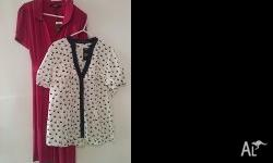 NEXT UK size 16 Red dress and white shirt white with