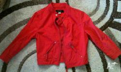 Red Jacket Girls size 8 (fits 10-14yrs) Excellent
