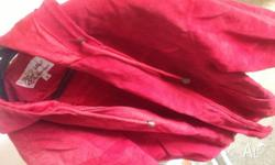 Italian leather red designer jacket as new , but sell
