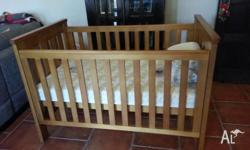 Boori Country Cot including mattress and mattress