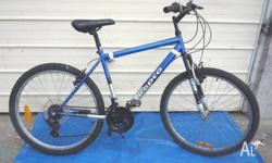 18 Speed Repco Bike with front suspension. Both wheels