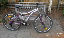 Purple and silver Repco Monsoon Ladies mountail bike