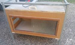 this is a custom build reptile display cabinet. it has