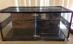 2 in 1 reptile enclosure for sale. It is a 4ft x 2ft x