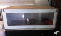Two reptile enclosures for sale with heat mats and
