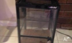 Reptile One enclosure 450 by 300 by 300 lockable .