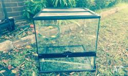 Reptile tank 45cm by 45cm. Tank previously had a