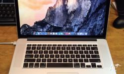 Selling my Macbook pro retina i7 with 256GB SSD and 8GB