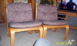 pair if funky scandanavian style chairs beleive to be