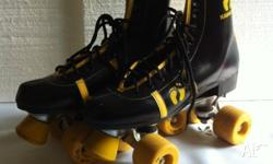 As new, collectable, original 1970s roller skates. Mens