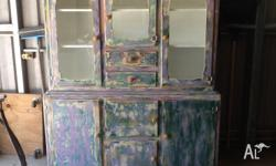 Gorgeous retro kitchen cupboard, lovingly restored in