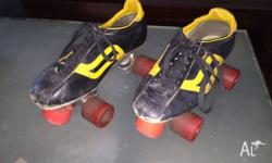 Retro Roller Skates Torch Brand. Nice leather, size 7