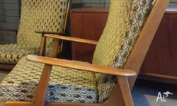 Two gorgeous boomerang armchairs Quality retro mid