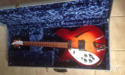 Left handed 2008 Rickenbacker 330 Beautiful amberglo
