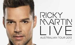 Ricky Martin Platinum Reserved Seating - Saturday 19th