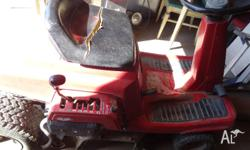Ride-on mower Honda for sale. Cuts good. Selling as no