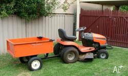 Husqvarna LTH1842 Ride on mower with trailer 140 hours