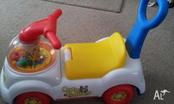 Plastic ride on car Great fun for toddlers Storage