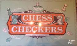 Ridleys chess and checkers board game Never been used