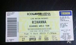 This is a ticket for 'RIHANNA'S' concert which is held,