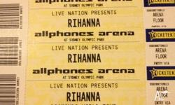 Rihanna's concert tickets with advance entry pass on
