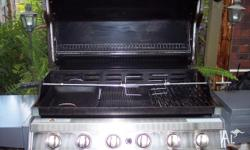 RINNAI 6 BURNER BBQ WITH EXTRAS ROTORY SPIT CAST IRON