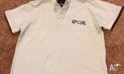 Ripcurl polo top size 4 pale blue with many trips. Rip