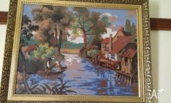 This beautiful river side tapestry is approx 50cmX70cm