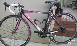 Full Carbon road bike with Shimano Durace 10 speed.