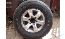 We have four 4x4 road worthy tyres and rims for sale