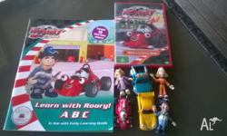 Three metal roary cars and figures. Roary DVD - Roary's