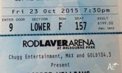 2 X Tickets to Robbie Williams Platinum Reserved