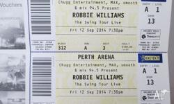 I have 2 Gold Reserved tickets to Robbie Williams The