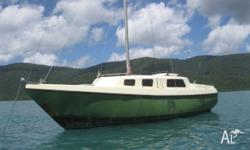 Coastal cruiser with exceptional head room .All sails