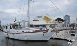 Steel Roberts Spray, Steel Wheelhouse, Gaff Rigged. A