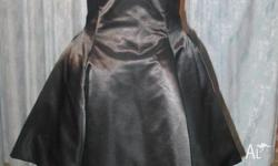 Designer label Studibaker Black Satin with tulle