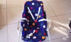 Rocker with carry strap. The white bar can be easily