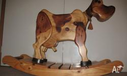Hand made Rocking Cow for sale. Made of solid pine and