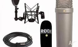 Brand new rode nt1a microphone with stand and Scarlett