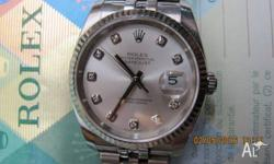 ROLEX Datejust Up for auction is the beautiful SS/18K