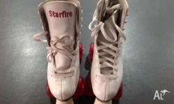 Star fire roller skates, used. Size: from inside toe to