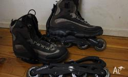 Roller blades with removable wheels. Barely used,