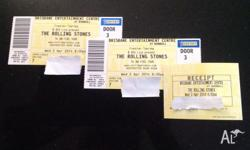 I hav 2 tickets to the Rolling Stones Brisbane show on