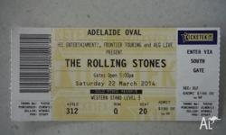 I have a single Rolling Stones ticket for sale. The