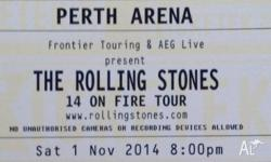 Hi, I have four spare tickets for the Stones on Sat 1st