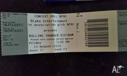 For sale: 1 x Concessional Ticket Concert Hall QPAC